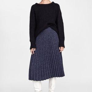 Zara Accordion Pleat Midi Skirt